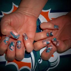 Miami Dolphin colors - water marble