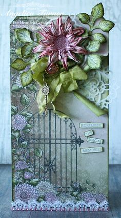 Floral Tag made with stamps, dies, and paper from Heartfelt Creations