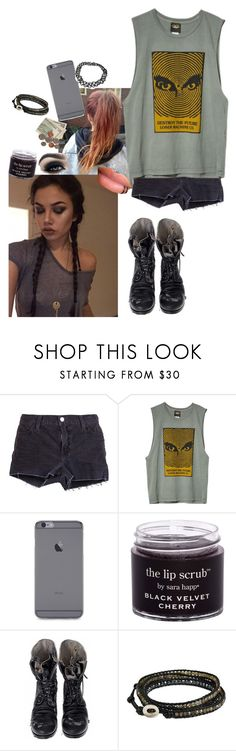 """""""With Arzaylea. Casual. Khaki n black"""" by avintagemystery ❤ liked on Polyvore featuring J Brand, Loser Machine, Too Faced Cosmetics, Augusta and NOVICA"""