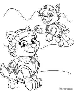 Free printable Paw Patrol Coloring Pages for kids. Print ...