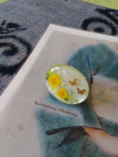 ガラスのような、立体的な絵柄の帯留の作り方 |Rumphius 帯留作り&着物ダイアリー♪