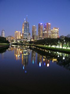 Melbourne at night, Australia. Just for you from one side of the world to the other. Happy memories!