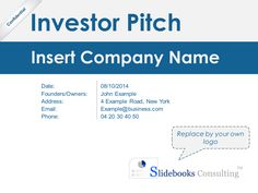 Best Investor Pitch Deck Template By ExMcKinsey Consultants - Investor pitch deck template