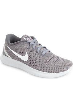 Nike 'free Rn' Running Shoe (women) In Pure Platinum/ White Nike Shoes Cheap, Nike Free Shoes, Nike Shoes Outlet, Toms Outlet, Cheap Nike, Free Running Shoes, Nike Running Shoes Women, Nike Women, Womens Shoes Canada