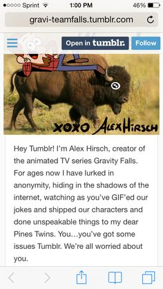 Alex Hirsch, we love you. It is true about that stuff people do to the poor Pines twins. I hate Pinecest