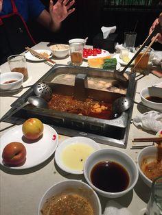 Haidilao Hot Pot 海底捞火锅, Beijing. Chocolate Fondue, I Foods, Food And Drink, Drinks, Desserts, Drinking, Tailgate Desserts, Beverages, Deserts