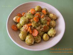 Poêlée de choux de Bruxelles aux carottes et à la moutarde à l'ancienne