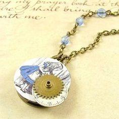Alice Steampunk necklace