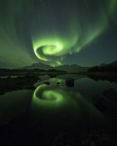 Crazy, cool aurora taken by Ronny Arbekk in Tjeldoy, Norway on Sept. 11, 2015.