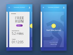 Special Running App by Mark Curchin #Design Popular #Dribbble #shots