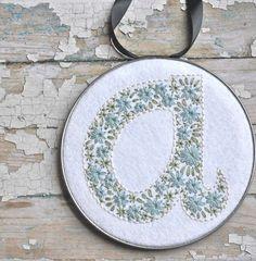 Pretty monogram embroidery.