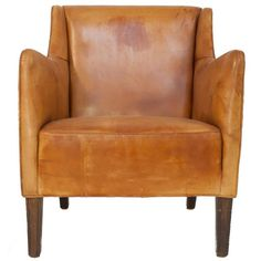 Leather Lounge Chair | See more antique and modern Lounge Chairs at https://www.1stdibs.com/furniture/seating/lounge-chairs