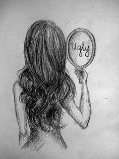 Sad that most beautiful women see themselves this way....