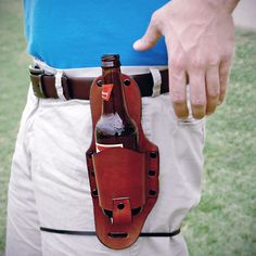 Brown Leather Beer Holster - The Ole Bull Co.