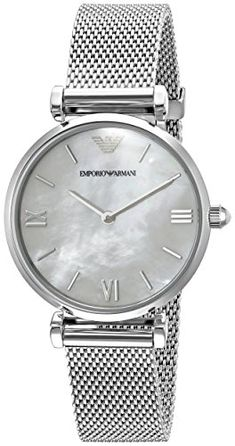 38a0801f29a Emporio Armani Womens AR1955 Retro Silver Watch     Click on the image for  additional details.