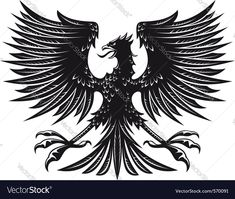 German Symbols, Eagle Vector, Wing Tattoo Designs, Black Eagle, Eagle Tattoos, Eagle Design, Illustration, Moose Art, Artsy Fartsy