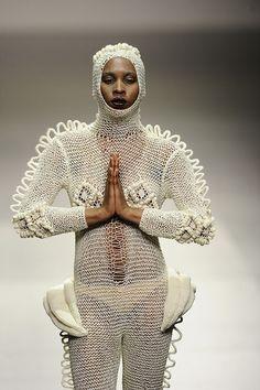 Designer Leandro Cano,  Pasarela Cibeles Madrid Fashion Week. Tendencia para la Primavera-Verano 2012. Fotos de los desfiles