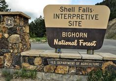 Lil Dude Troll went to Shell Falls in the Bighorn National Forest!