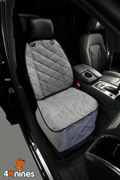 Bucket Seat Cover For Dogs and Pets For Cars Trucks and SUVs (Grey)