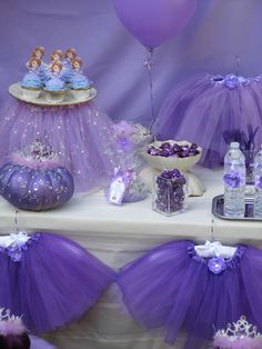 Sofia The First Party Ideas. See the Little Purple Princess Party from My Princess Party to Go. http://www.myprincesspartytogo.com/Purplicious.html  #princesspartyideas #sofiathefirst
