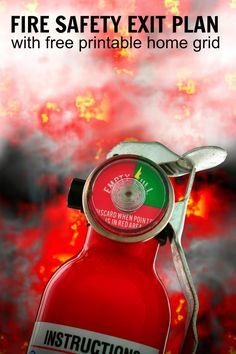 Create a Fire Safety Exit Plan for Fire Prevention Month via @ellenblogs ad