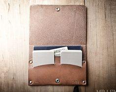 Bifold Leather Wallet Leather bifold Mens leather von MrLentz