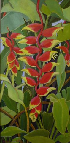 """heliconia"" (available at the Village Gallery in Lahaina, Maui)"