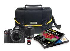 Nikon D3000 DSLR 6 Piece Bundle with 1855mm f3556G AFS  55200mm f456G ED AFS Nikkor Zoom Lenses -- ON SALE Check it Out