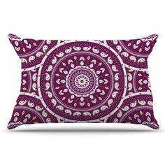 East Urban Home Mandala Design by Cristina bianco Design Pillow Sham Size: Standard