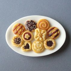 Assorted chocolate pastries