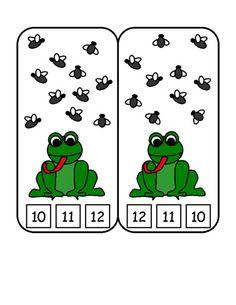 Fun children's learning activities, including printable templates, for preschool, kindergarten and elementary school kids. Frog Theme Preschool, Frog Theme Classroom, Frog Activities, Kids Learning Activities, Preschool Learning, Kindergarten Math, Montessori Math, Teaching, Math For Kids