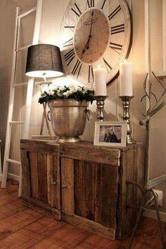 Cabinet and clock #VintageDecoratingIdeas