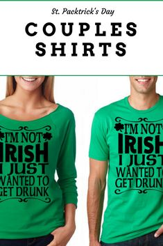5b3041ba8 Green couples St patrick's day shirts french terry 3/4 sleeve raglan Funny  Irish tees #stpatricksday #affiliate