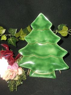 $6.96 or best offer Christmas Tree Platter Dish 1983  #Unbranded