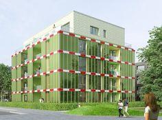 "3.4.13 - World's First Algae Bioreactor Facade Nears Completion - ""zero-carbon apartment complex will sport a bright green facade-cum-algae farm"""