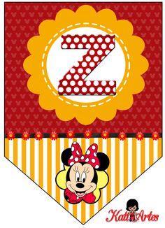 Banderines de Minnie. | Oh my Alfabetos!