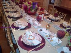 table settings - A Rosh Hashanah Table Setting for Royalty! By Vivian | Kosher Recipes and Jewish Table Settings
