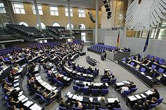 A Session of the Bundestag (like the U.S. Congress) when it was still in Bonn, Germany