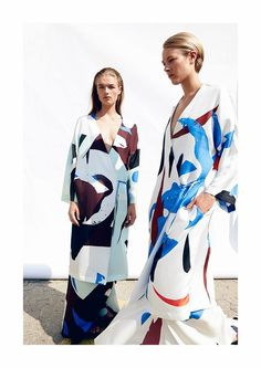 Brush strokes to wear, in the SS 15 collection of Freya Dalsjö