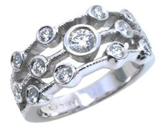 Diamond fashion ring with 0.59carat tdw in 14k white gold | #MothersDay #Mom #love