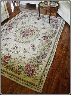 romantischer teppich rosen shabby chic vintage landhaus rund 200 cm shabby interior. Black Bedroom Furniture Sets. Home Design Ideas