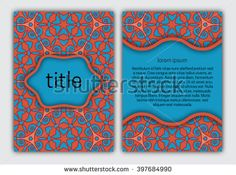 #Cover template for #book, #brochure, #booklet, #notebook, #copybook, #album or #invitation #card #design.