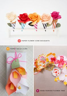 Paper Flower Crafts   Oh Happy Day!