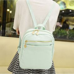 7 Candy Color Women Back Pack Bag 2016 Japan and Korea Teenage Student School Travel Bagpack PU Leather Backpack Girls Rucksack