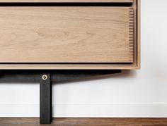 Detail of handmade timber kitchen by GARDE HVALSØE