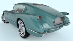 1954 Chevrolet Corvette Corvair concept (by samcurry, deviantart) Chevrolet Corvette, Chevy, Pontiac Gto, Weird Cars, Cool Cars, Automobile, Roadster, Futuristic Cars, Classic Cars