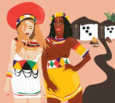 An embrace of culture, body and tradition in the modern world. South African Art, Zulu, Joy, Culture, Illustrations, Traditional, Photo And Video, Modern, Artwork