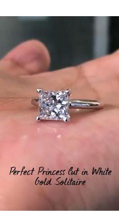 Princess Cut Rings, Princess Cut Engagement Rings, Beautiful Engagement Rings, Diamond Rings, Diamond Cuts, Gemstone Rings, Wedding Rings, Wedding Stuff, Wedding Photos