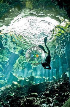 El buceo en cuevas Peninsula de Yucatan Mexico                              …