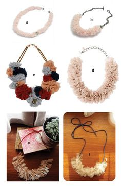 inspiration for cloth/flower necklaces